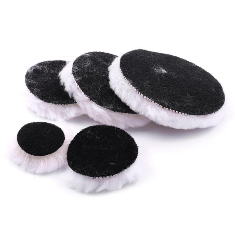 1PC 50/75/100/125/150mm Diameter Wool Buffing Pad Dremel Polishing Pad Tools 2'-6' For Auto Jewelry Kitchen Polishing