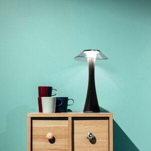 Image 3 - Светодиодная настольная лампа, удобный и мягкий светильник для спальни/офиса, Настольный светильник со встроенной USB зарядкой и аккумулятором, 3 режима