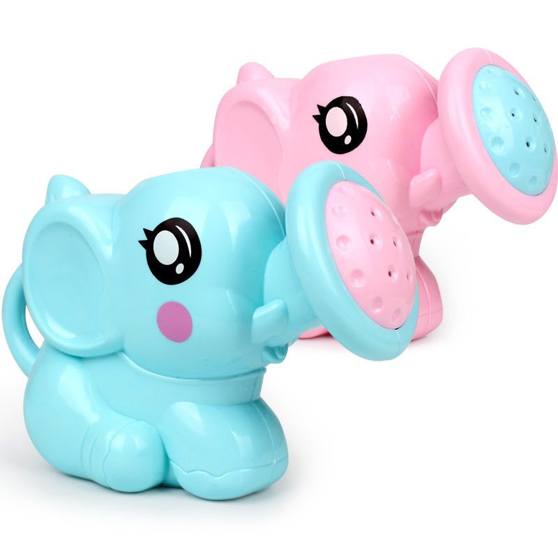 The New Pink Blue Baby Bath Toys Elephant Shape Animal Children Bathroom Bathroom Water Spray Toys For Baby Shower Swimming Toys