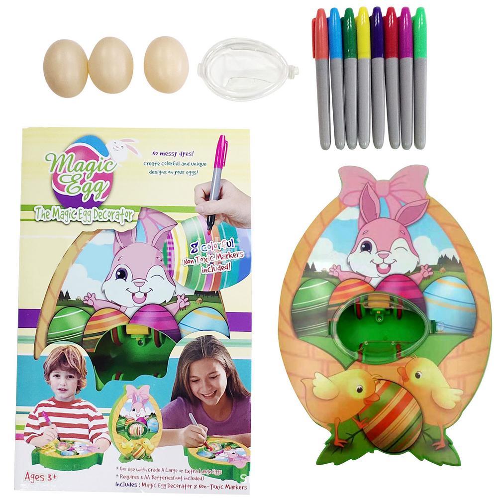 Набор для самостоятельного украшения яиц, раскрашенное яйцо, Спиннер, машина с аксессуарами, ремесло, развивающая игрушка для детей, подаро...