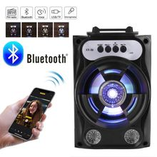 Speaker Outdoor Sound-System with Led-Light Support Tf-Card Fm-Radio Tra 97QB Bass-Stereo