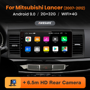 AWESAFE PX9 for Mitsubishi Lancer 9 10 2008-2015 Car Radio Multimedia video player GPS No 2 din Android 10 2GB+32GB(China)