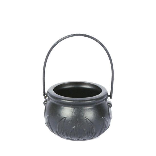 Enchufe europeo/estadounidense Cauldron humo niebla fabricante 12 LED Halloween cubo ornamento bruja maceta de juguete fiesta accesorios decorativos