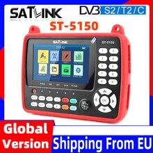 Original satlink ST-5150 satélite localizador sat DVB-S2 DVB-T2 DVB-C hd combo meter h.265 hevc MPEG-4 qpsk 8psk 16apsk 4.3 polegada tft