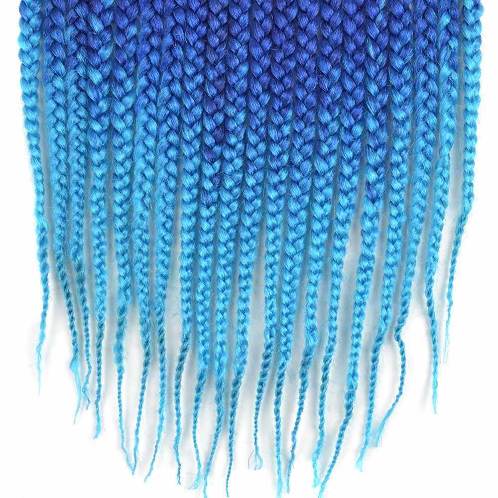 Омбре Синтетические 3s коробка плетение волос крючком косы Chorliss 18 дюймов африканские богемные черные красные синие зеленые коробки для наращивания волос