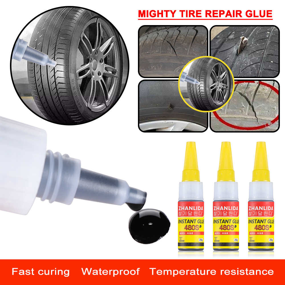 Universele 20G Auto Wiel Band Mighty Reparatie Lijm Band Sealer Band Punctie Kit Lijm Bike Car Tire Reparatie Patch sealer Reparatie