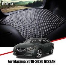 De cuero estera de maletero de coche para Nissan Maxima A36 2016, 2017, 2018, 2019, 2020 alfombra de cola de carga de Pad Nissan Maxima de Mat