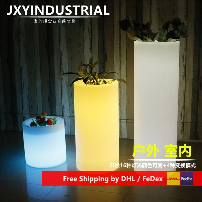 LED Cylindrical Flowerpot