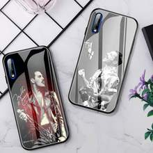 Rainha freddie mercúrio telefone caso vidro para huawei p30 lite 20 por p9 10 honra 8x9 10 nova 5 capa