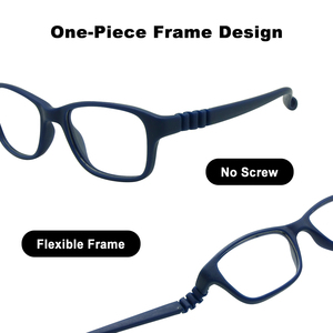 Image 5 - Boy Glasses Frame with Strap Size 43/16 One piece No Screw Safe, Optical Children Glasses, Bendable Girls Flexible Eyeglasses