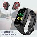 Наушники Bluetooth спортивные умные часы фитнес-браслет водонепроницаемые наушники с измерением давления здоровье трекер монитор скорости