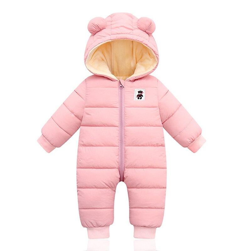 Baby Girl Clothes Fashion Winter Overalls Children Hoodies Newborn Jumpsuit Baby Kids Snowsuit Snow Wear Infant Boys Warm Romper