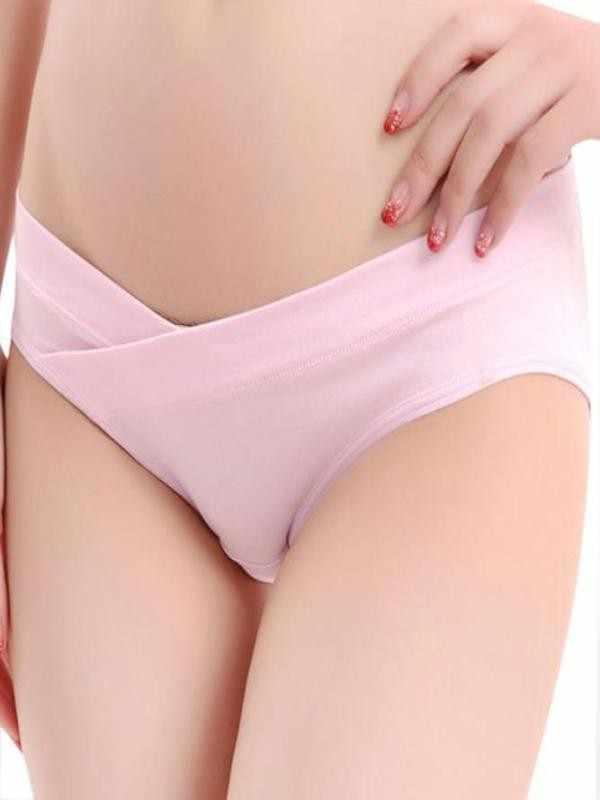 TELOTUNY การตั้งครรภ์กางเกงผ้าฝ้ายต่ำเอวชุดชั้นในกางเกงสำหรับหญิงตั้งครรภ์ U-รูป za02