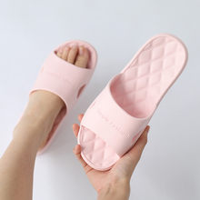 2020 Bathroom Shower Slippers For Women Summer Soft Sole High Quality Beach Casual Shoes Female Indoor Home House Pool Slipper(China)