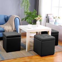 Ottoman Chair Modern Footstool Storage Book Magazine Clothes Socks Stuff Home Cafe Living Room Kitchen Furniture Meubles HWC