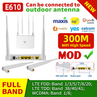 E610 Router WIFI 4C Modem WiFi 2.4GHz 300Mbps 4 antenne controllo APP Router Wireless ripetitore Extender in Home Office