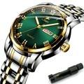 Uhr für Männer JLANDA J6601G Quarz Uhr Männer Datum Woche Leucht Hände Stahl Wasserdichte Männliche Uhr mit Werkzeug Box Dropshipping