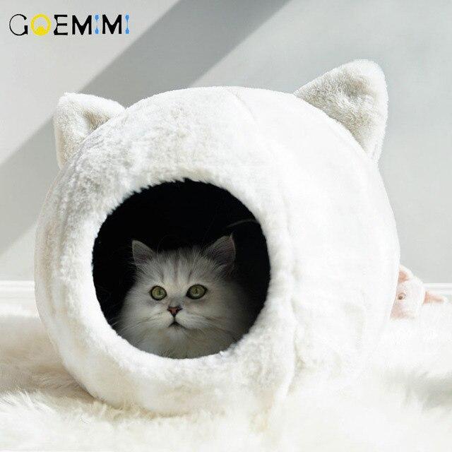 القطط عش سرير شتاء دافئ قطع تصميم جرو بيت حيوانات أليفة عالية الجودة الكلب سرير الحصير منزل للقطط