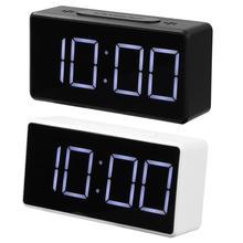 LED Digital Alarm Clock Table Clock USB Port Snooze Electronic Clock Dimmer Snooze Temperature Digital Home Decoration Clock