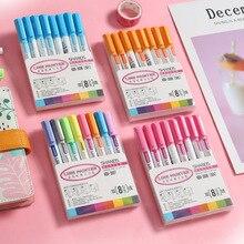 8/12 Colors Outline Paint Marker Pens Double Line Pen Highlighter Marker Metal Color Pen Handbook Painting Doodling Art Marker