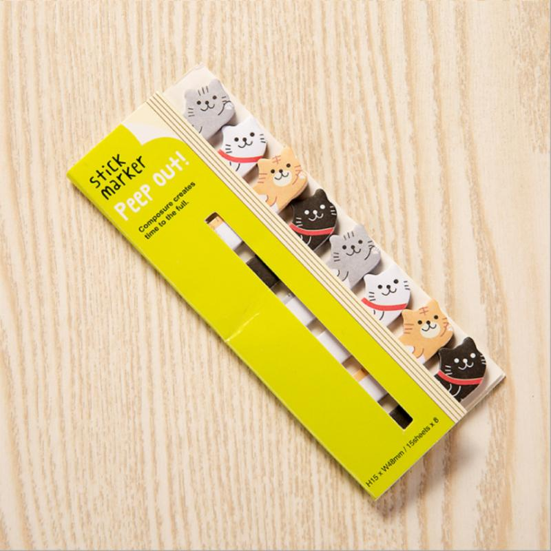 1 Set Cute Panda Cat Animals Page Marker Mini Sticker Notes  5