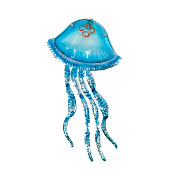 Metal Jellyfish Wall Decor with Glass for Home Garden Decoration and Miniatures Garden Statues Outdoor Fairy Garden Ornaments european angel ornaments living room decorations ornaments cute angel for home decoration accessories fairy garden miniatures