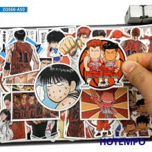 50 pçs slam dunk estilo comic anime adesivos brinquedos para crianças papelaria do telefone móvel portátil mala skate dos desenhos animados adesivos