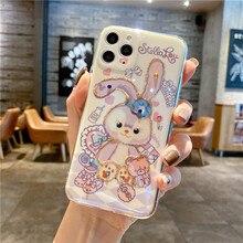 Disney กระต่ายบัลเล่ต์เหมาะสำหรับ Iphone 11 12Promax โทรศัพท์มือถือกรณี IPhonexsmax Xr 7 8P Iphone 11 pro Max สำหรับสตรี