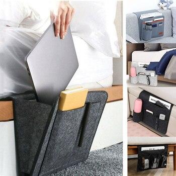 Organisateur de rangement de chevet | Caddie suspendu, poches de support de lit, pochette de canapé de lit, poches de support de lit en feutre pour livre