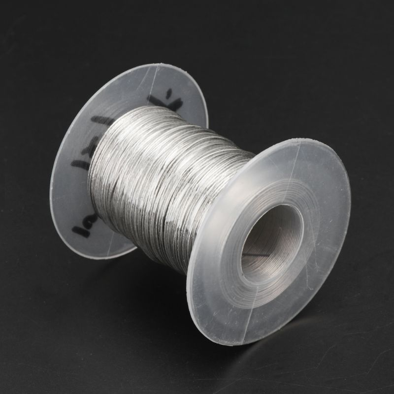 100m 304 Stainless Steel Wire Rope Soft Fishing Lifting Cable 1*7 Clothesline With 30 Aluminum Ferrules U50A