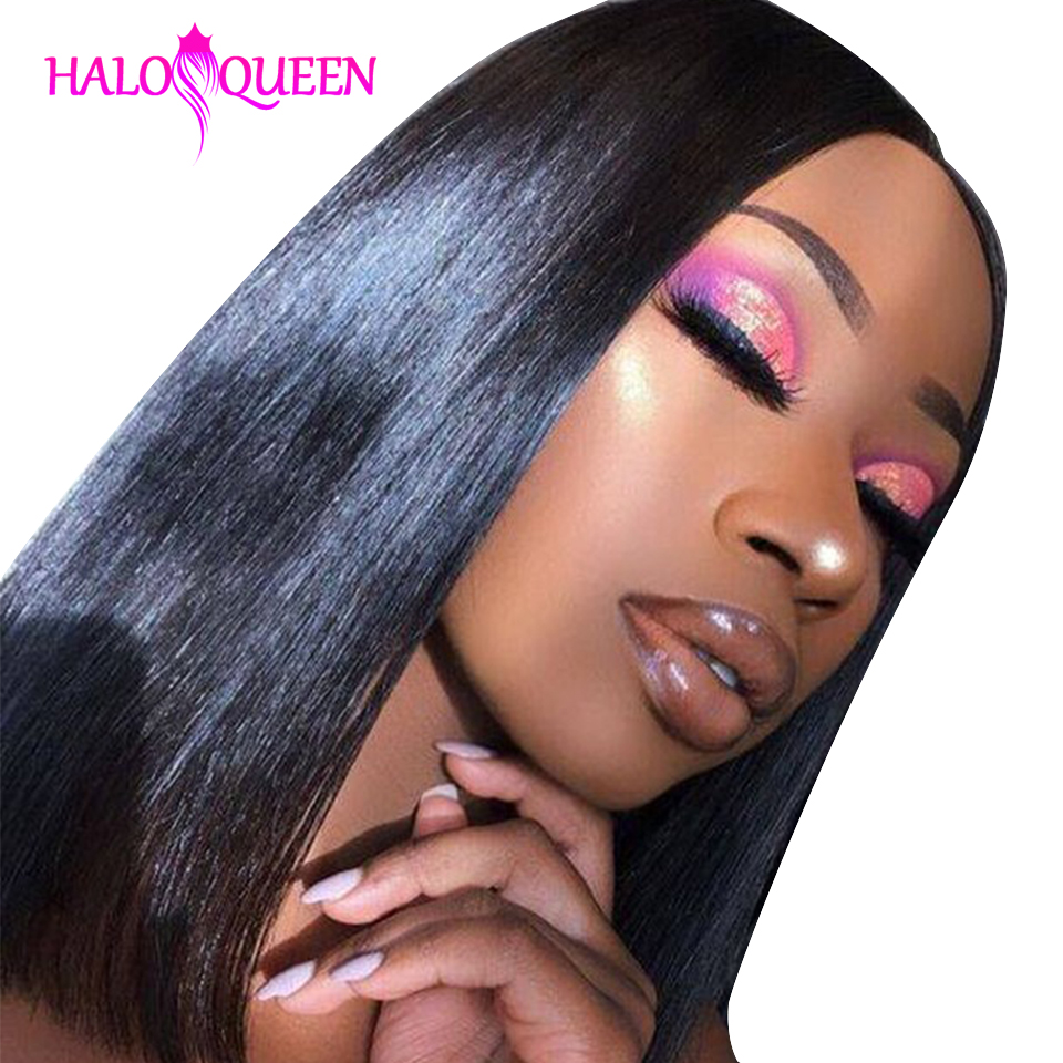 Remy Straight Short Human Hair Wigs 13x4 Lace Frontal Wig Straight Bob Lace Front Wigs  Hair Malaysia Lace Front Human Hair Wig