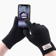 Knitted Gloves Touch Screen Winter Autumn Men High Quality Male Thicken Warm Wool Cashmere Solid Mitten Business