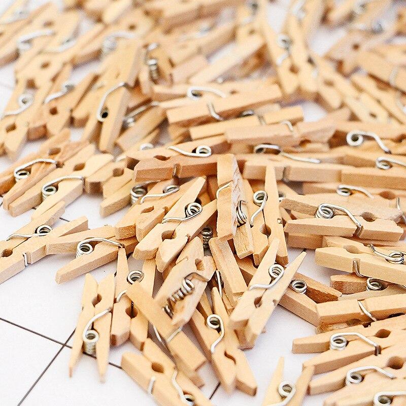 50 шт. оптовая продажа очень маленький размер шахты 25 мм Мини натуральные деревянные зажимы для фото зажимов прищепка для украшения|Украшения своими руками для вечеринки|   | АлиЭкспресс