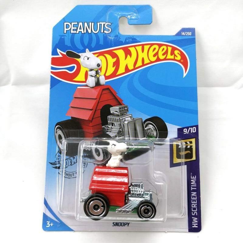 2020-14  Hot Wheels 1:64 Car SNOOPY  Metal Diecast Model Car Kids Toys Gift
