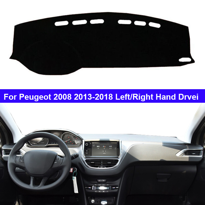 Car Auto Inner Dashboard Cover For Peugeot 2008 2013 - 2018 LHD RHD Dash Mat Carpet Cape Cushion Anti-sun 2017 2016 2015 2014