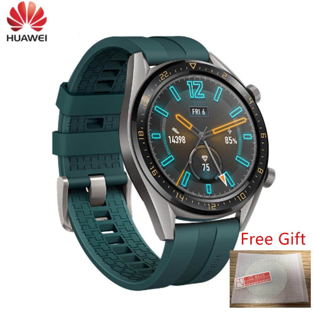 Version mondiale montre Huawei GT Smartwatch prend en charge GPS 14 jours d'autonomie 5ATM appel téléphonique étanche pour iOS Android