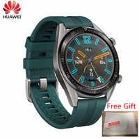 Wersja globalna zegarek huawei GT Smartwatch obsługuje GPS 14 dni żywotność baterii 5ATM telefon wodoodporny telefon dla iOS Android