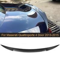 Fibra de carbono traseiro tronco spoiler asa lábio para maserati quattroporte 4 door 2013 2015 traseiro cauda tronco tampa boot lábio asa spoiler|spoiler wing|spoiler rear|spoiler carbon fiber -