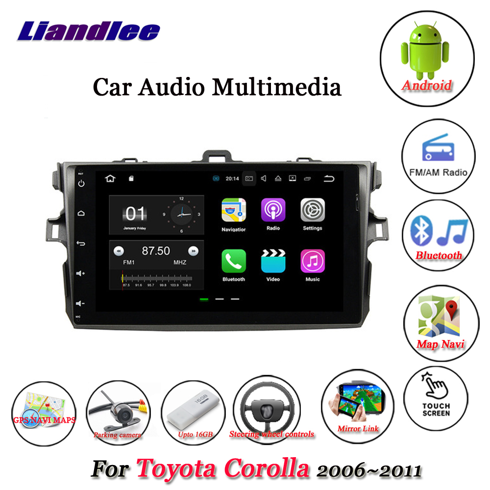 Liandlee Car Android System For <font><b>Toyota</b></font> <font><b>Corolla</b></font> E140 <font><b>2005</b></font>~2011 Stereo <font><b>Radio</b></font> Video GPS Map Nav Navigation Multimedia No DVD Player image