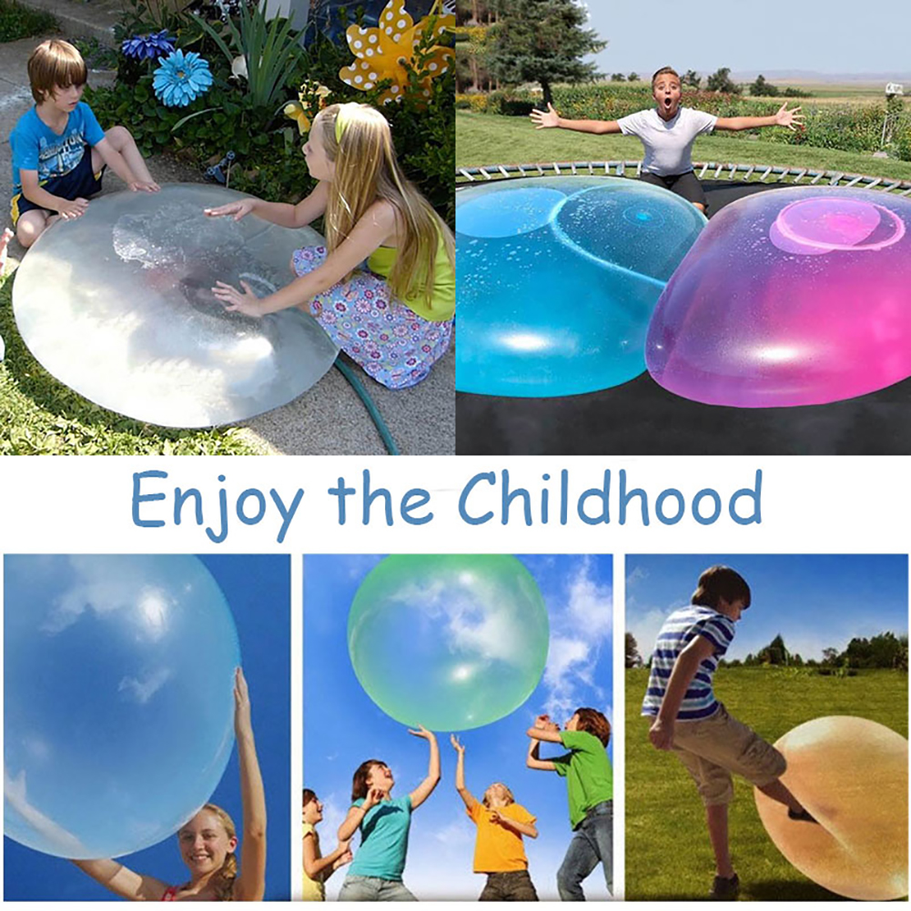 New Children Outdoor Soft Air Water Filled Bubble Ball Blow Up Balloon Toy Fun Party Game Summer Gift For Kids Inflatable Gift