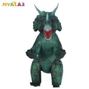 Image 3 - מתנפח דינוזאור T REX ליל כל הקדושים תחפושות למבוגרים ילדים נשים גברים פיצוץ טריצרטופס מלא גוף קרנבל קוספליי מסיבת קמע
