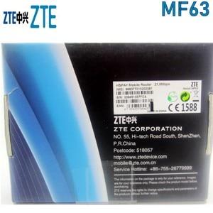 Image 4 - ZTE MF63 3G 21Mbps جيب موزع إنترنت واي فاي المحمول واي فاي فتح مع الجيل الثالث 3g هوائي
