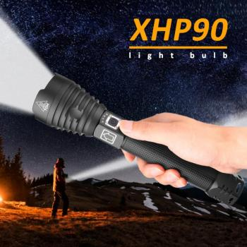 XHP90 Most Powerful LED Flashlight USB Rechargeable Torch XHP50 Hand Lamp 26650 18650 Battery Flash Light for Hiking/Cycling 9 image