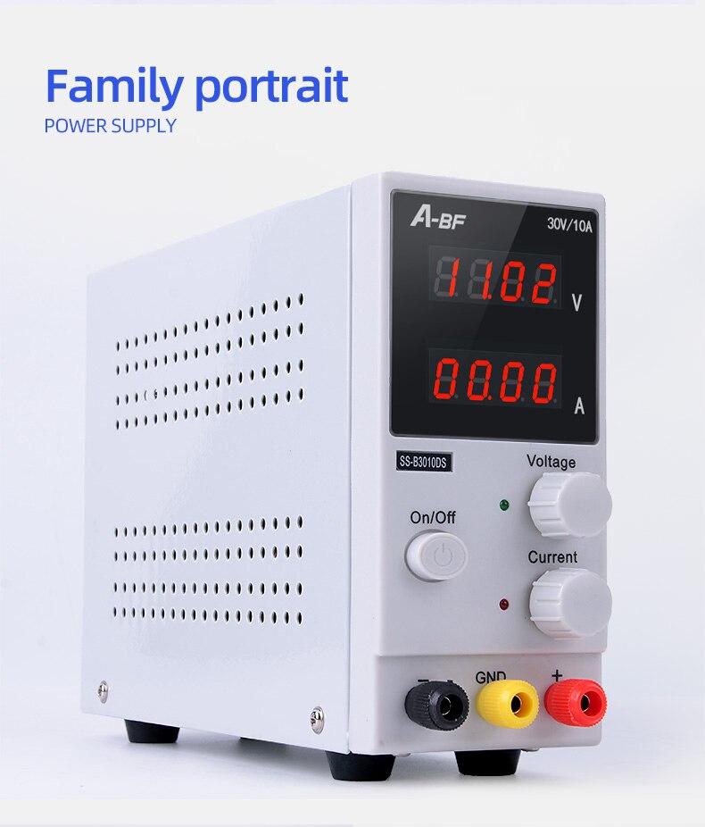 A-BF микро Регулируемый DC Питание SS-B3010D предварительное обслуживание 30V10A Регулируемый Импульсный небольшой Питание