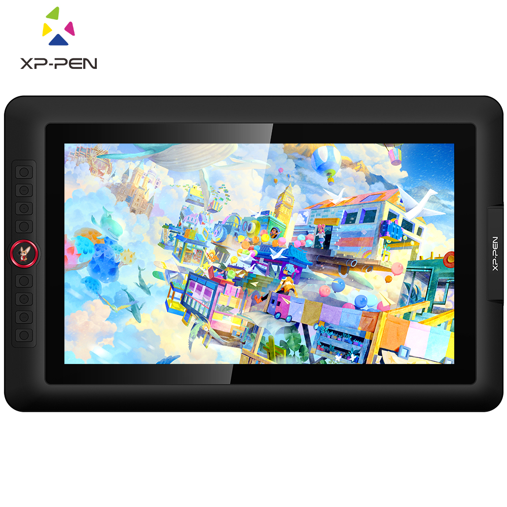 XP-Pen Artist 15.6Pro Drawing Tablet Monitor Holiday Version Present 1920 X 1080 Graphics With Shortcut Keys And Rolls