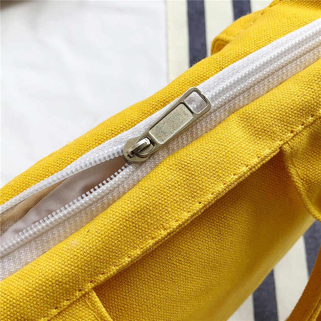 女性のカラーマッチングキャンバスバッグ学生ファッション野生トート手紙ショッピングバッグ Pachwork カジュアルトートパッケージ再利用可能な食料品バッグ #57