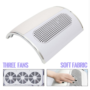 professional nail 3 fans dust suction collector vacuum cleaner nail manicure polish salon tools with 2 dust collecting bags 40W Nail Vacuum Cleaner 3 Fans with 2 Bags Nail Dust Suction Collector Strong Power Low Noisy Salon Equipment Manicure Art Tools