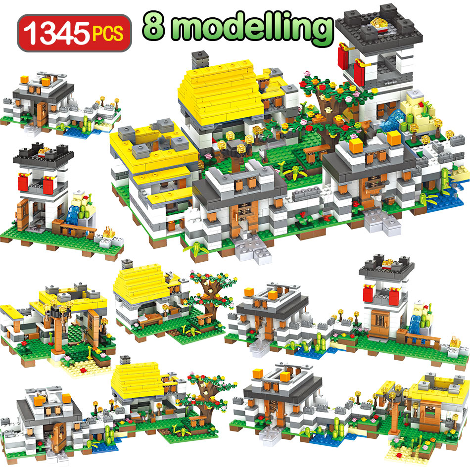 1345PCS My World Model Building Blocks Compatible Legoingly Village Dreamlike Manor Educational Brick Toy For Children