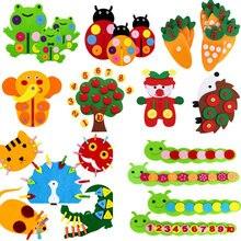 Lehre Kindergarten Manuelle DIY Weben Tuch Baby Früh Lernen Bildung Spielzeug Montessori Lehrmittel Math Spielzeug