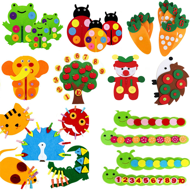 Teaching Kindergarten Manual DIY Weave Cloth Baby Early Learning Education Toys Montessori Teaching Aids Math Toys